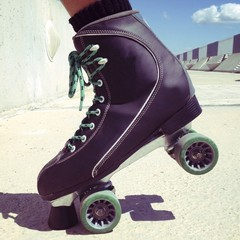 skater on the road