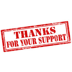 Thanks For Your Support-stamp