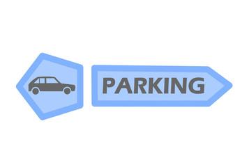 Car parking tag
