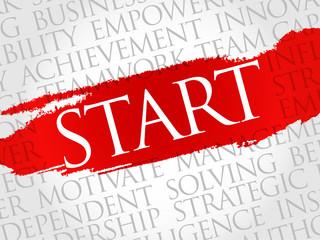 Start word cloud, business concept