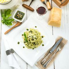 Pasta with Pesto alla genovese