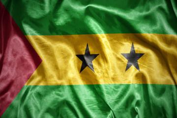 shining Sao Tome and Principe flag