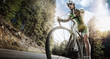 canvas print picture - Sport. Road cyclist.