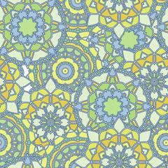 Mosaic yellow pattern