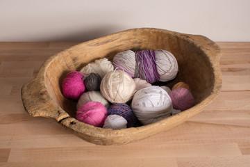 Colorful wool balls