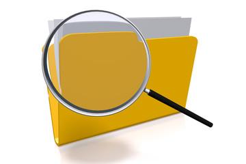 Files folder concept