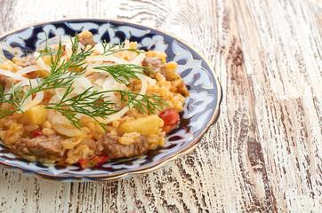 Pilau - traditional uzbek dish