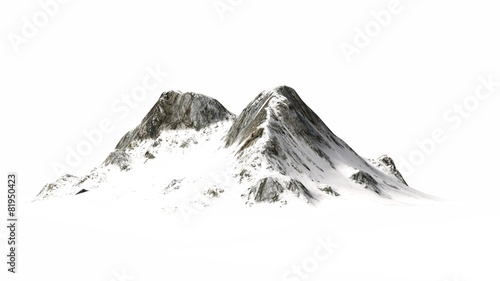 Snowy Mountains - separated on white background - 81950423