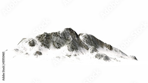 Snowy Mountains - separated on white background - 81950461