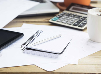 Accounting Tools with Agenda, Calculator and Pen.Office Financia