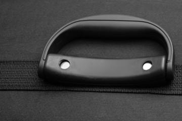 suitcase handle closeup