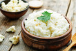 Leinwanddruck Bild - creamy cauliflower garlic rice