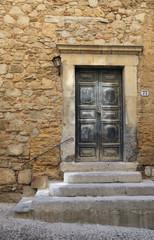 Portal Kirche chiesa della Badiola in Cefalu Sizilien