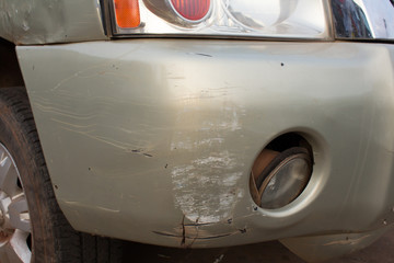 car body has scratched from accident
