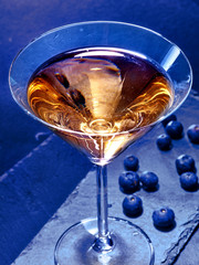 Blueberry cocktail  on black background 15