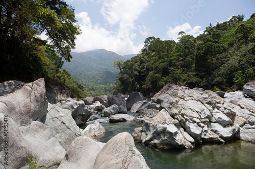 Cangrejal river in Pico Bonito national park in Honduras
