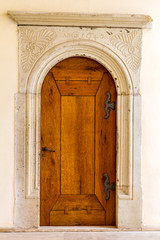 medieval,gothic,door and architecture with year engraved (1640)
