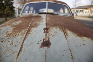 Motorhaube von einem Oldtimer
