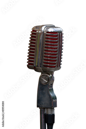 Poster 1940 era microphone