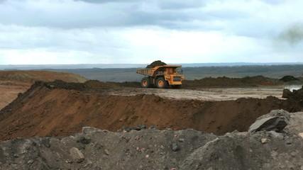 dump truck in pit mine