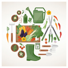 Gardening and farming concept