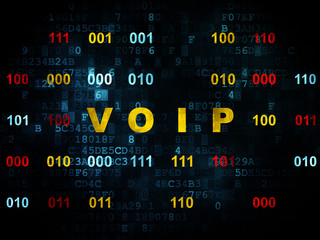 Web design concept: VOIP on Digital background