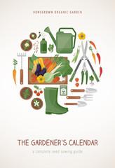 Gardening calendar cover
