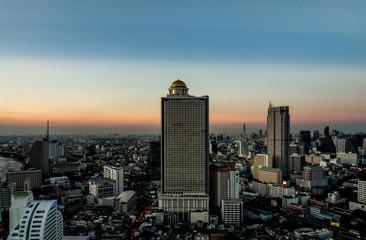 View on Sathon Tower in Bangkok , Thailand
