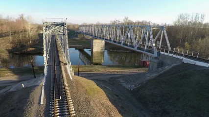 Railway bridge, aerial survey