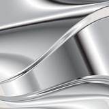 Elegant 3d metallic background, vector. 3