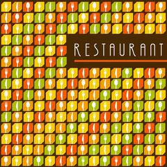 Restaurant menu background Orange