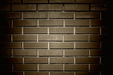 brown brick wall background close up