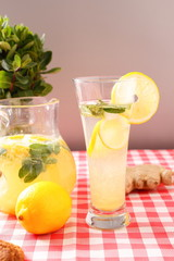 glass of homemade lemonade