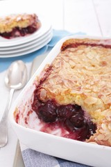 cherry almond pudding