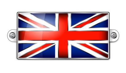 Enamel British Union Jack Flag