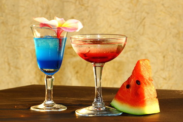 Beautiful colorful cocktails thirst.