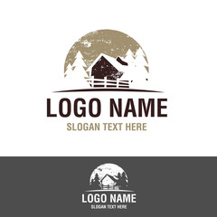vintage logo - tree house