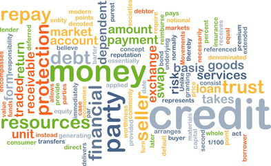Credit wordcloud concept illustration