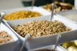 Leinwanddruck Bild - Buffet Frühstücksmüsli
