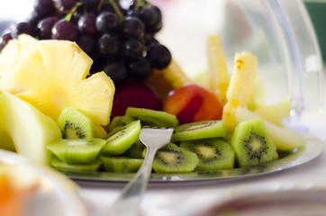 Obstteller beim Buffet im Hotel / Restaurant