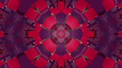 Purple and red Mosaic background, loop