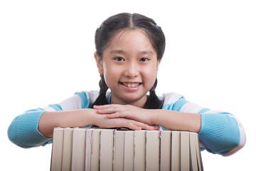 Student girl doing homework