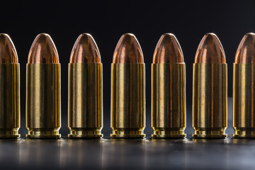 Number pistol cartridge 9 mm caliber