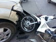 Accident between pickup truck and motorcycle - 81964021