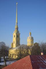 Вид на Петропавловский собор с Государева бастиона