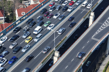 Traffic on the viaduct