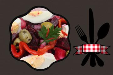 Salade de Crudités aux oeufs durs