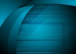 Abstract blue wavy tech background
