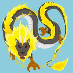 Chinese dragon of sun