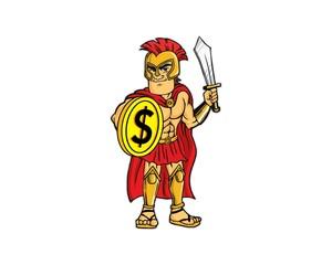gladiator knight logo image vector